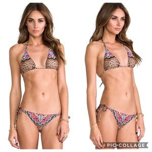 REVOLVE Pilyq Embroidered Triangle Raja Bikini
